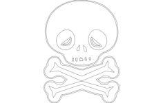 skull outline Free Dxf File for CNC