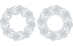 rose frame Free Dxf File for CNC