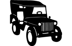 willys jeep Free Dxf File for CNC