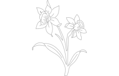 daf flower Free Dxf File for CNC