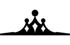 tiara Free Dxf File for CNC