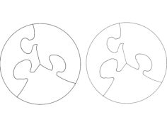 puzzle circular Free Dxf File for CNC
