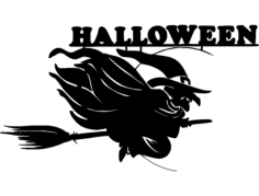 800px-halloween-witch svg Free Dxf File for CNC