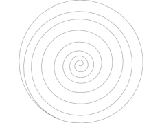 spiral Free Dxf File for CNC