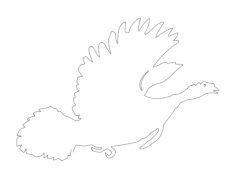 bird running silhouette Free Dxf File for CNC