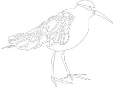 bird Free Dxf File for CNC