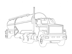 tanker Free Dxf File for CNC