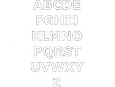 alphabet gimp Free Dxf File for CNC