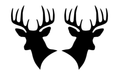deer heads 00 1 Free Dxf File for CNC