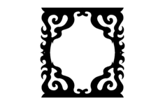 decorated frame Free Dxf File for CNC
