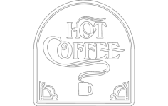 hot coffee Free Dxf File for CNC