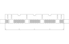 grinder rack Free Dxf File for CNC