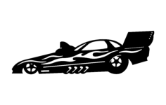 drag car Free Dxf File for CNC