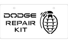 dodge repair kit Free Dxf File for CNC