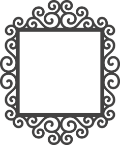 swirly frame Free Dxf File for CNC