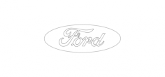 ford logo wire Free Dxf File for CNC