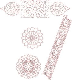 seamless islamic moroccan patterns Free Dxf File for CNC