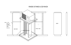 cd rack Free Dxf File for CNC