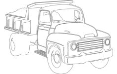 dump truck Free Dxf File for CNC