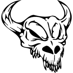 skull 009 Free Dxf File for CNC