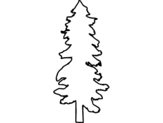 tall tree Free Dxf File for CNC