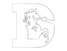 denver broncos Free Dxf File for CNC