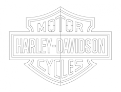 harley (1) Free Dxf File for CNC