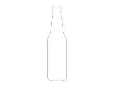 silueta de botella Free Dxf File for CNC