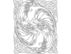 dragon design Free Dxf File for CNC