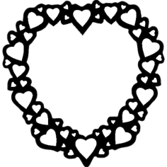 heart frame Free Dxf File for CNC
