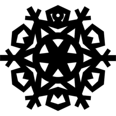 snowflake Free Dxf File for CNC