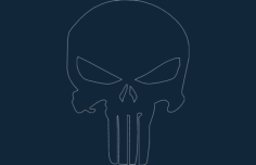 punisher Free Dxf File for CNC