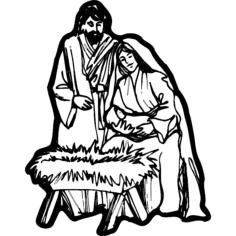 nativity scene Free Dxf File for CNC