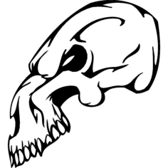 skull 017 Free Dxf File for CNC