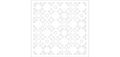 400x400mm Free Dxf File for CNC
