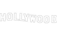 hollywood silhouette Free Dxf File for CNC