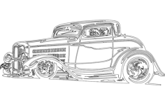 car 1 Free Dxf File for CNC