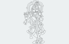 krishna Free Dxf File for CNC