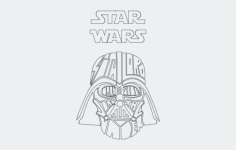 darth vader star wars Free Dxf File for CNC