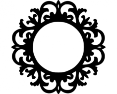 mirror frame Free Dxf File for CNC