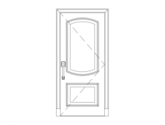 wood single door Free Dxf File for CNC