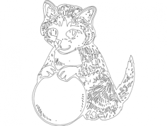 gato 4(cat) Free Dxf File for CNC