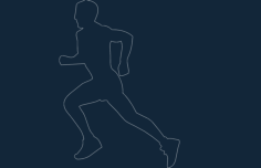 runner Free Dxf File for CNC