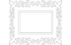 quadro trabalhado (frame) Free Dxf File for CNC