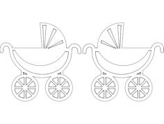 aplique carrinho de bebe Free Dxf File for CNC