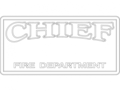 chief fire department 2 Free Dxf File for CNC