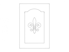door design clean simple Free Dxf File for CNC