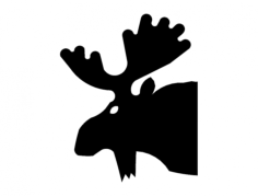 moose 3b head Free Dxf File for CNC