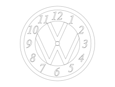 vw clock Free Dxf File for CNC