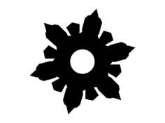 vector snowflake Free Dxf File for CNC
